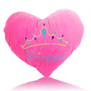 Princess Heart Plush Pillow