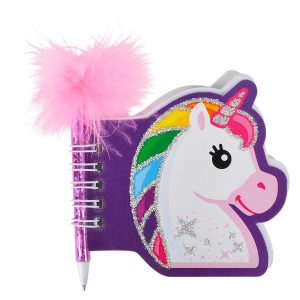 3.5-inch-Unicorn-Notepad-with-Feathered-Pen