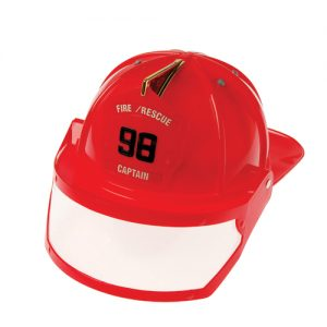 Plastic Fire Hat with Visor