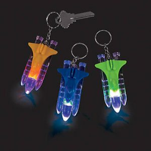 Flashing Rocket Keychain