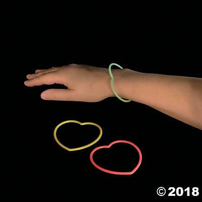 glow in the dark heart bracelets